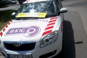 """A BKK új matricázású """"zavarelhárítás"""" kocsija."""