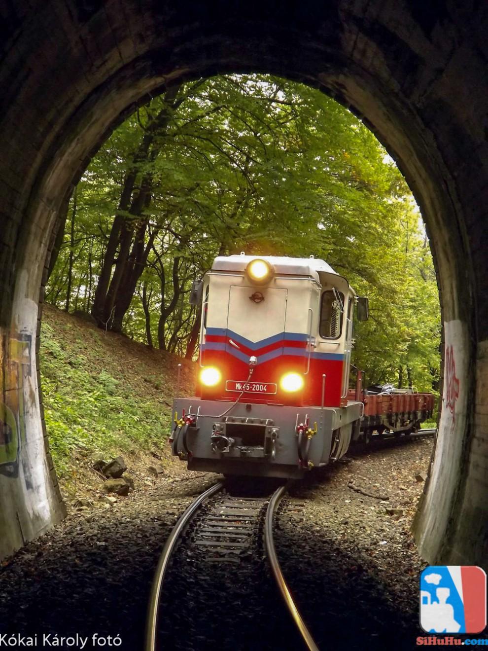 A jelző az alagútnál!