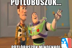 Pótlóbuszok mindenhol