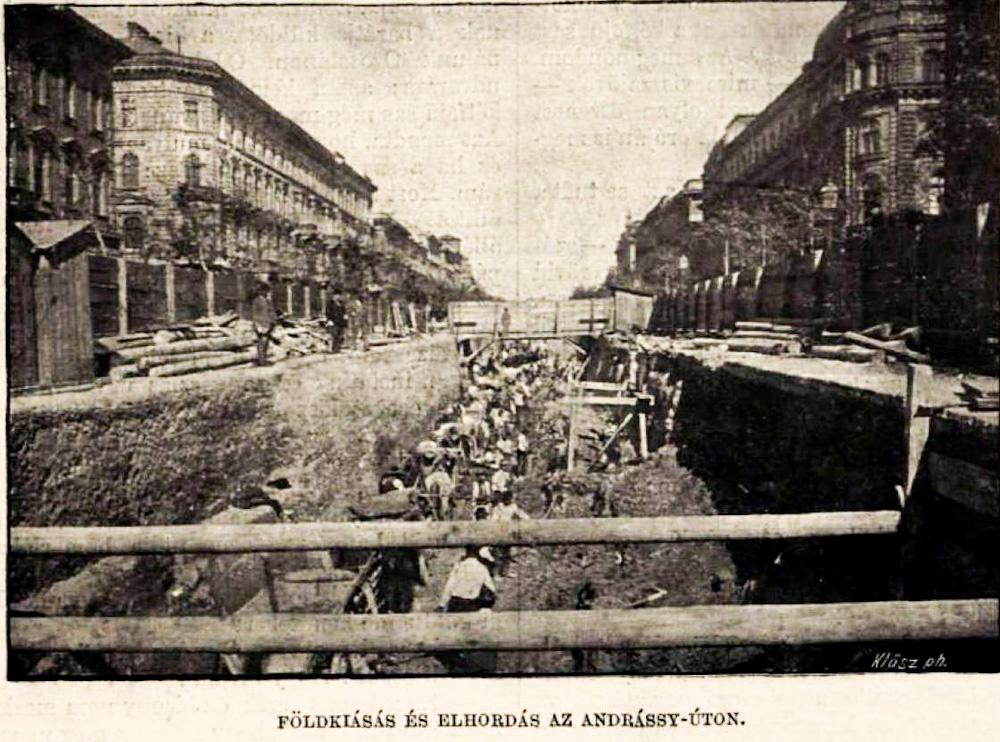 Milleniumi Földalatti Vasút építése