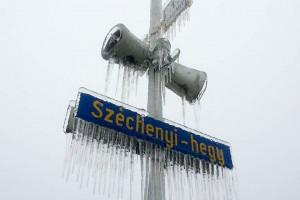 Széchenyi-hegy jég alatt - Fotó: Imre Lajos