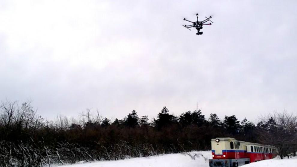 Drón a Gyermekvasúton