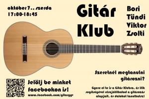 gitárklub plakát