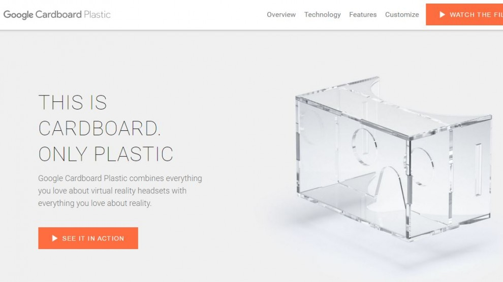 Google Cardboard Plastic