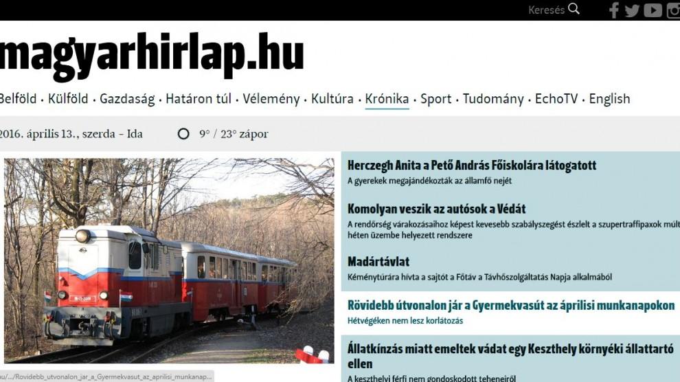 Magyar Hírlap - Gyermekvasút