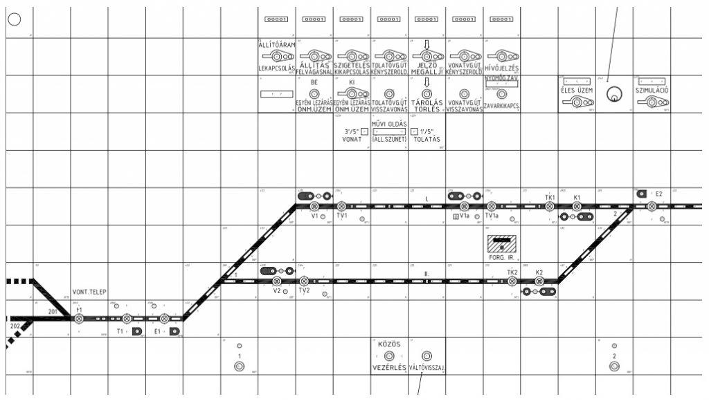 Hűvösvölgy állomás - új D70 biztosítóberendezés tervei