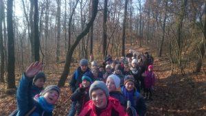 Túrázás a késő őszi erdőben