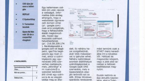 Az újság címlapja