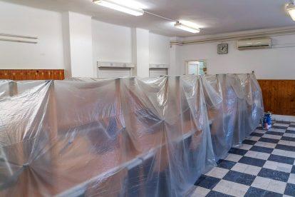 Karbantartási munkálatok a Gyermekvasutas Otthonban, a MÁV egyetlen üzemi étkezdéjében