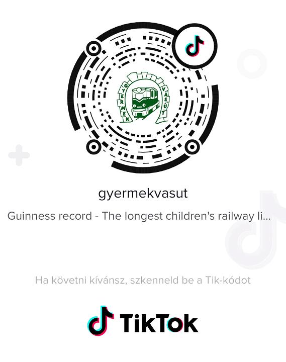 TikTok kód Gyermekvasút