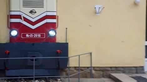 Mk45 mozdonyszobor Hűvösvölgyben